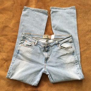 levi's super low bootcut jeans